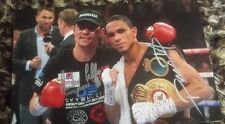 ANTHONY CROLLA DARLEYS PEREZ DUO HAND SIGNED WORLD CHAMPION 12 X 8 PHOTO COA