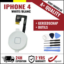 A+ Home Replacement Button Bouton Assembly & Flex Cable White+Tools For iPhone 4