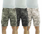 Mens Cargo Shorts Crosshatch Crossfin Camo Army Camouflage Print Summer Pants
