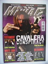 METAL MANIAC #3 2008 - CAVALERA CONSPIRACY - TESTAMENT - WHITE LION