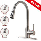 Commercial Stainless Steel Single Handle Kitchen Faucet Pull Down Sprayer Head