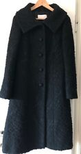 Valentino Roma Coat Black Vintage Italian Size 40 Very Good Condition