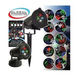 Benross Outdoor & Indoor LED Christmas & Halloween Projector Light - 12 Patterns