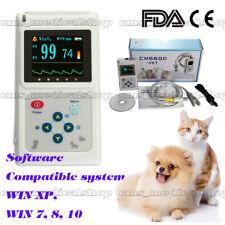 Handheld Veterinary Pulse Oximeter with Tongue SpO2 Probe+PC Software