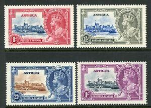 British 1935 KGV Silver Jubilee Antigua Set Scott # 77-80  Mint Non Hinged Y231