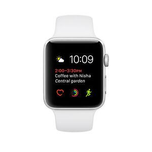 Apple Series 1 42mm Aluminum Case Smart Watch - Silver/White (MNNL2LL/A)