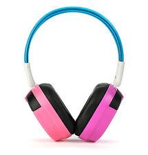 Bravo View BTS-04 - KID FRIENDLY Bluetooth Wireless Headphones (Purple/Pink)