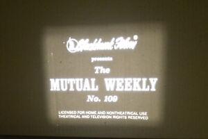 1917 *WW1* Mutual Weekly 8 MM B & W Silent Film *Early News Reel*