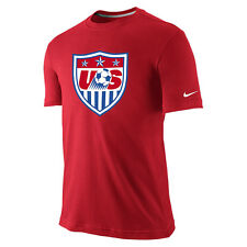 Nike sz S Men's Usa Soccer Core Crest Soccer Tee T- Shirt New 726361 657 Red