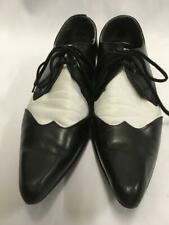 1920s 1930s Gangster Correspondence Shoes Black and White size 10 Brogue ex hire