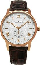 Alexander Swiss Made Mens A102-05 Designer Watch Sapphire Crystal Leather Strap