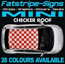 MINI CHECKER ROOF GRAPHICS STRIPES DECALS STICKERS ONE COOPER S R50 R56 F56 JCW