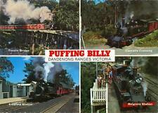 Belgrave, Victoria, Australia Puffing Billy 4 views unused postcard