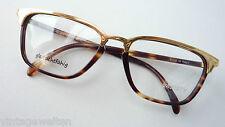 extravagante Herrenbrille Hornoptik braun havanna gold Brillengestell neu Gr L