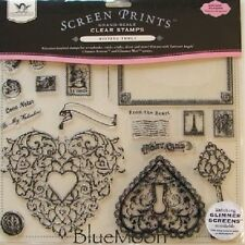 """Tattered Angels 13842  """"Timeless Romance"""" 22 Piece Clear Stamp Set"""