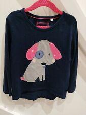 Debenhams Blue Zoo girls Dog long sleeved top Age 5-6 years