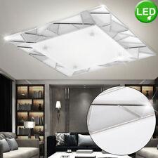 Lámpara de techo LUJO LED Salón Reflector cristal mosaico diseño luces Plata