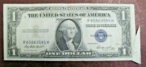 Super Rare Vintage 1935 USA ERROR Silver Certificate Dollar Banknote in GoodVF