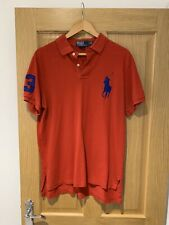 Ralph Lauren - Red Custom Fit Large Horse Polo - Size Large