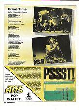 TUBES Prime Time lyrics magazine PHOTO/Poster/clipping 11x8 inches