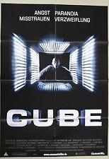 (Z383) Fotosatz + Orig. Kinoplakat CUBE  Nicole de Boer / Maurice Dean Wint / Da