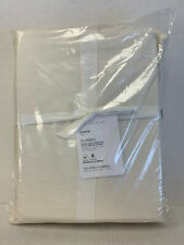 Pottery Barn Classic 400-Thread-Count Organic Percale Sheet Set Queen Ivory