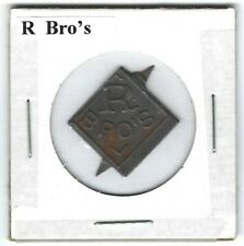 R Bro's Chewing Tobacco Tag Embossed Tips Intact R110