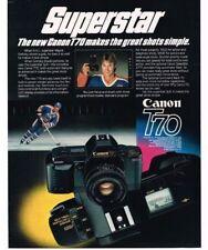 1985 Canon T70 35mm Camera Wayne Gretsky Vintage Print Ad