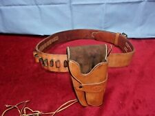 Leather Pistol Holster & Belt, Made by: El Paso Saddlery Co., Texas
