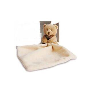 DOUDOU et COMPAGNIE PARIS~ourson monchoir~Bear Cub with Security Blanket~NEW Box