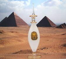 Egyptian Perfume Bottles - Blown Glass - King Tut Bottle - White # 6-517-29