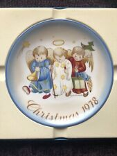 Vintage 1978 Schmid Christmas Heavenly Trio Collector's Plate, W. Germany - Euc