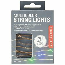 Kikkerland Copper Wire Multicolor LED String Lights - Red, Green & Blue