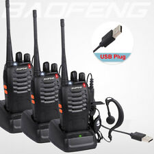 3Pcs BaoFeng Walkie Talkie BF-888S UHF 400-470MHZ 2-Way Radio 16CHs Long Range