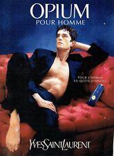 Publicité Advertising 087  1998  parfum pour homme Opium Yves Saint Laurent
