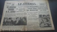 JOURNAUX LE JOURNAL N°16992 SAMEDI 29 AVRIL 1939 ABE