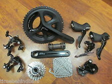 SHIMANO BLACK 105 5800 172.5 52/36 12-25 GROUP GROUPPO BUILD KIT 11 SPEED DOUBLE