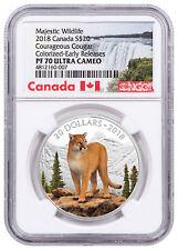 2018 Canada Majestic Wildlife Courageous Cougar 1 oz Silver NGC PF70 ER SKU52588