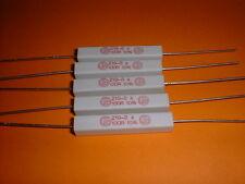 5x 100 Ohm / 7 Watt Wirewound-Power-Widerstand