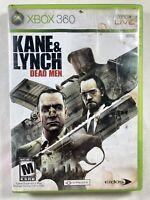 Kane & Lynch: Dead Men (Microsoft Xbox 360, 2007) Complete CIB