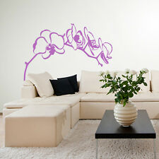 01144 Wall Stickers Sticker Adesivi Murali Decorativi Ramo di orchidea 100x75cm