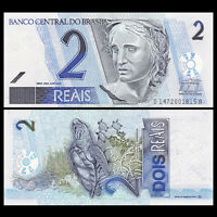 Brazil 2 Reals, 2001, P-249b, UNC