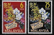 MALAYSIA    1963   Flowers    MNH-VF  #  Mich. 4-5