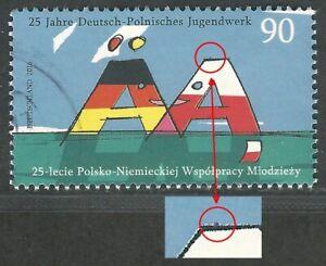"""25 Jahre Deutsch-Polnisches Jugendwerk - Roter Punkt auf """"A"""" - Mi.Nr. 3249 II"""