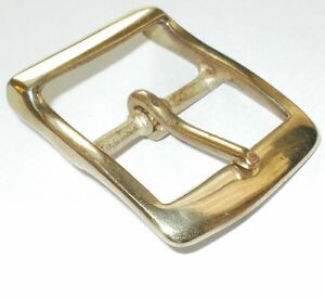 1.5 INCH  - 38MM BRASS FULL BELT BUCKLE WITH RECESSED BAR