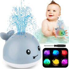 Bath Toys for baby Light Up Whale Bath Toys Sprinkler Bathtub Toys for Toddlers