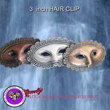 Mardi Gras Mask Hair Clip, Medium Hand Crafted Metal Made in the USA
