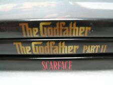 The Godfather Part 1 & Part 2 & Scarface Dvd Lot of 3 - Al Pacino Crime Movie