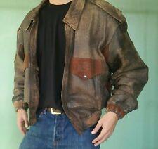 Vintage Bomber Jacket 80's 1980's Rare Bally Cocodrilo Leather Garment Lamb Skin