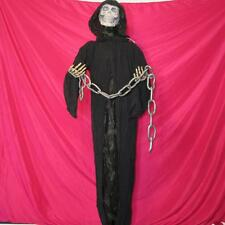 """65"""" LIFE SIZE ANIMATED REAPER~HEAD MOVES~LIGHTS/SOUNDS~Halloween Decoration~NEW"""